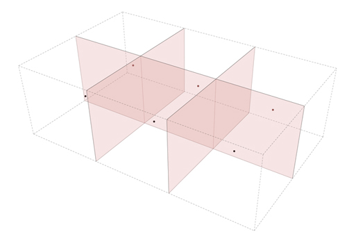 Stones Table Step 1: Evenly distributed center points make uniform shapes