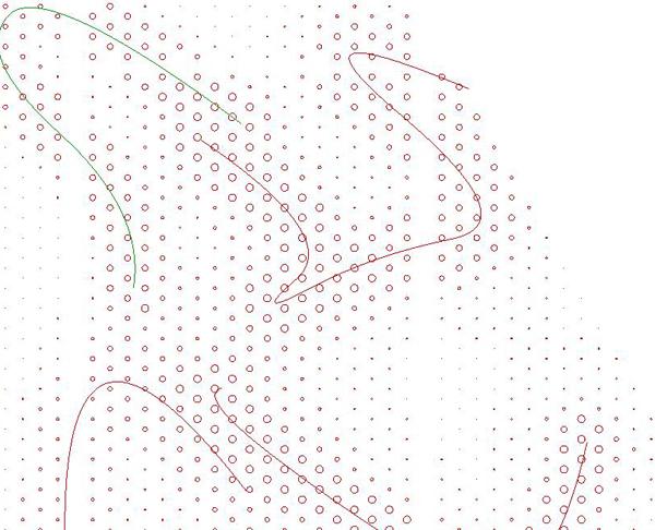 Fog Wall curves hand-drawn in Rhino