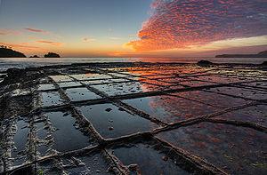 Tessellation in natural formations - Tasmanian granite on beach