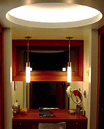 """Lighting should strengthen the architecture"" (Tiburon residence)"