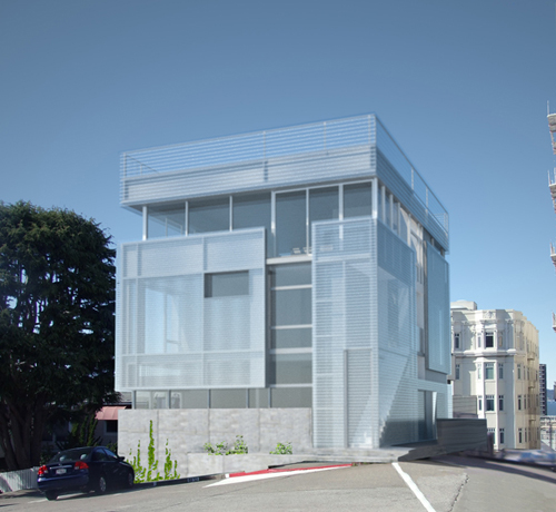 LSarc's Grenard Terrace project integrates a passive solar system as part of the skin of the building.