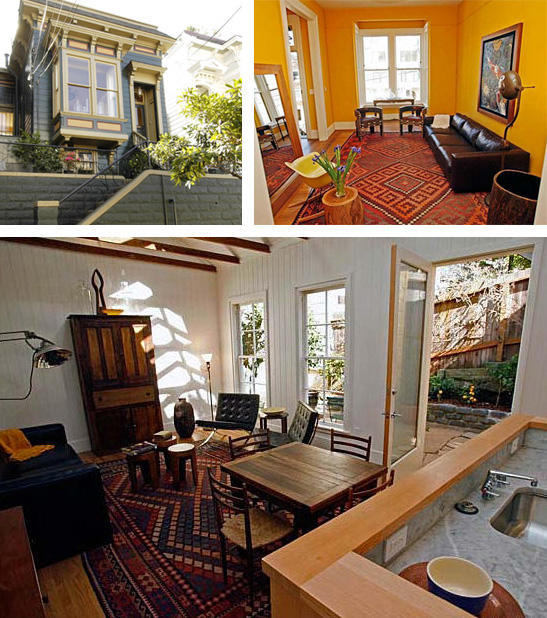 Malcolm Davis and Thomas Brian Lackey remodeled this 2-unit, 1,400 square foot Victorian to save it from the wrecking ball (Photo: Kim Komenich, SF Chronicle).