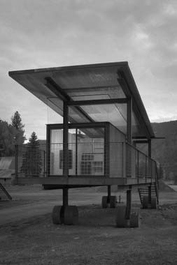 Rolling Huts by Tom Kundig are moveable within a former RV campground.