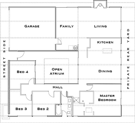 Klopf architecture on eichler renovations the architects Eichler atrium floor plan
