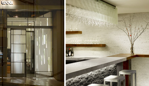 Entry facade and interior bar of The Local, designed and fabricated by Sand Studios. Photos: Cesar Rubio Photography