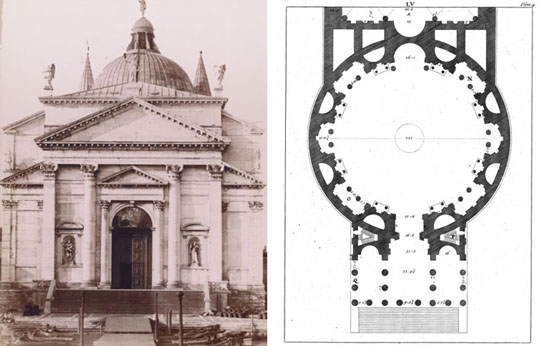 Andrea Palladio's Church Redentore shows his balanced sense of proportion. Palladio's work is considered the gold standard of Renaissance architecture