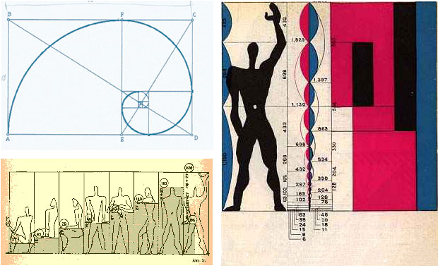 "Le Corbusier devised his ""Modulor"" system of proportion based on the Golden Ratio"