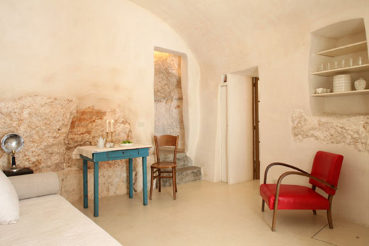 Interior of a home in the historical village center in Puglia, Italy. Photo: Claudio Santini