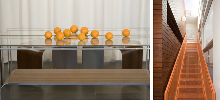 These images have an abstract, rendered quality. Design: LeanArch. Photos: Claudio Santini