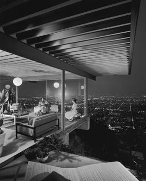 Julius Shulman's photo of Case Study House #22, designed by architect Pierre Koenig. Image © J. Paul Getty Trust, Julius Shulman Photography Archive