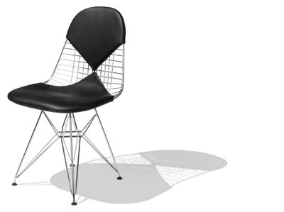 This simple wire chair designed by Charles and Ray Eames was originally designed for middle-class consumers.