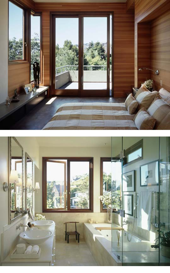 Master bedroom and bath from Karin Payson's Hill House project