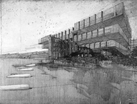 Drawing by architect Richard Neutra.