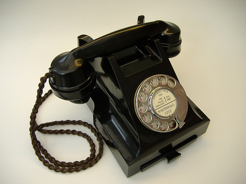 Countless generations of girls and women already know that telephones never ring when stared at.