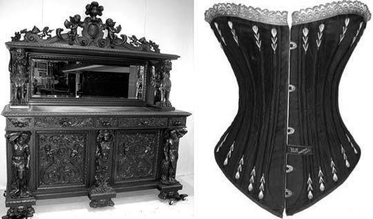 The heavy, dark furniture and corsets that we associate with the Victorian era seem to speak of a mental and physical confinement that contrasts with today's informal, contemporary lifestyles. Typical Modern architecture emphasizes a spacious, and airy feel - a freedom to move and to act unfettered by the past.