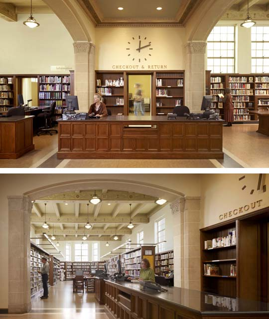 Karin Payson re-did the interiors for the West Portal Library in San Francisco.