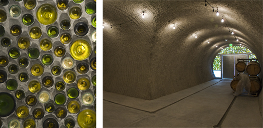 For the Hourglass Winery, Olle Lundberg decided to cut a cave into the hillside. Photos: Ryan Hughes