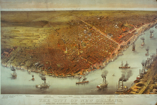 New Orleans engraving by Currier & Ives circa 1880