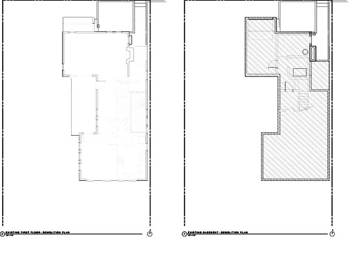Existing Floor Plans. Main Floor (left), Lower Floor (Right)