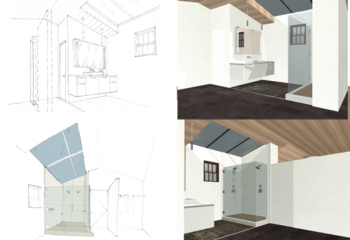 Master Bathroom Development. Sketches | Renderings