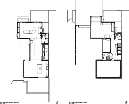 New Floor Plans. Main Floor (Left), Lower Floor (Right).
