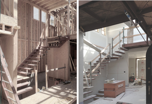 Construction 1 | Construction 2 Main Cantilevered Stair Development