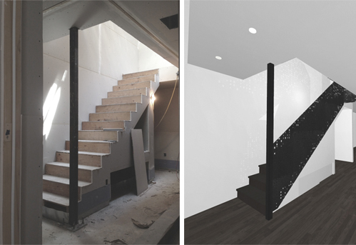 Construction | Rendering Lower Stair Development