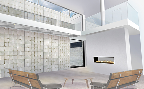 Concrete Tile Screen: Interior View