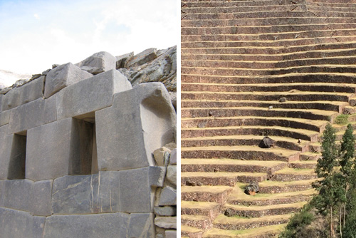 The Incas sought to display their power through massive stone constructions and large-scale earthworks up precipitously steep slopes. Photos: Mark English Architects.