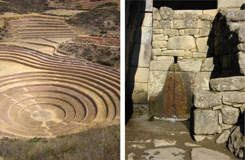 The Inca shaped and transformed the landscape through terracing and water management, among other things. Photos: Mark English Architects