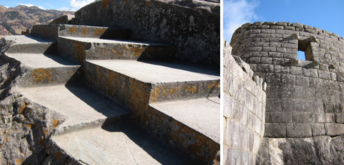 The Inca carved platforms into the living rock as viewing platforms for exclusive use by nobles and royalty. Photos: Mark English Architects