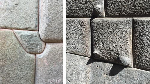 "Stone blocks were carefully shaped onsite and then ""dressed"" by ""nibbling"" or ""pillowing"" the rock. Photos: Mark English Architects"