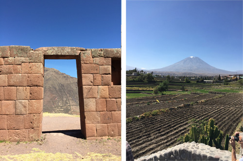 Special Inca rocks could sometimes be identified by carving, or framing, but oftentimes it was only by local lore that you would know. Mountain peaks were a special kind of special rock – powerful guardians who could see all over the land. Photos: Mark English Architects