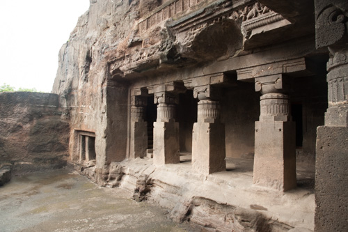 Richard Rhodes was deeply inspired by living-rock carvings such as the Ellora Caves in India. Photo: Richard Rhodes