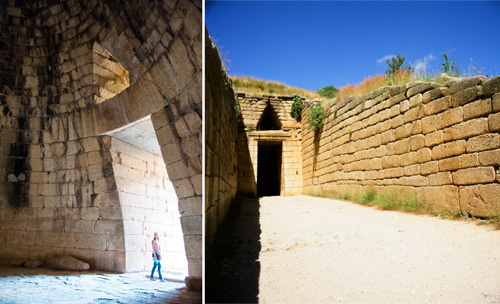 The Treasury of Atreus, also known as the Tomb of Agamemnon, built by the ancient Greeks, has a stark and powerful feel to it. Photos: Richard Rhodes