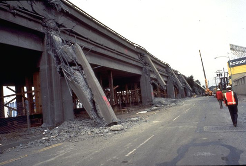 The 1989 Loma Prieta earthquake damaged San Francisco's central freeway, leading to a 10-year debate over its replacement.