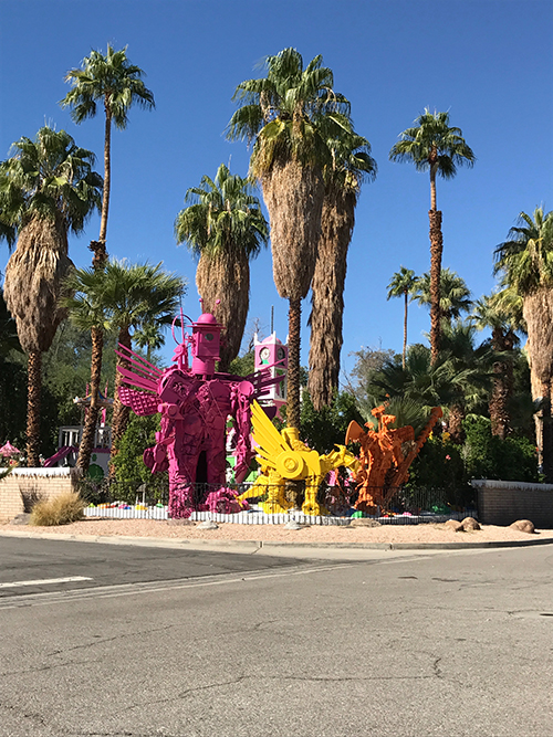 Sculptures by Kenny Irwin, Jr. in Robo Lights Park in Palm Springs, CA. Image: Mark English Architects
