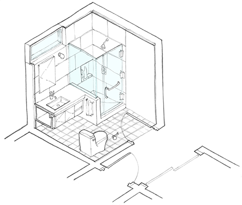 Tracing over a grid helps to keep freehand drawings looking true. Image: Mark English Architects